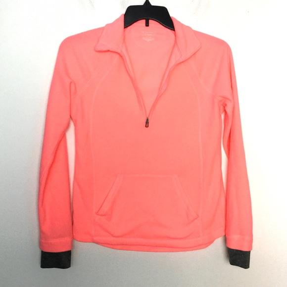 tek gear Sweaters - Tek Gear S Fleece Pullover 1/4 Zip Peach Shirt ❄️